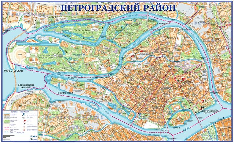 Карта петроградского района по улицам